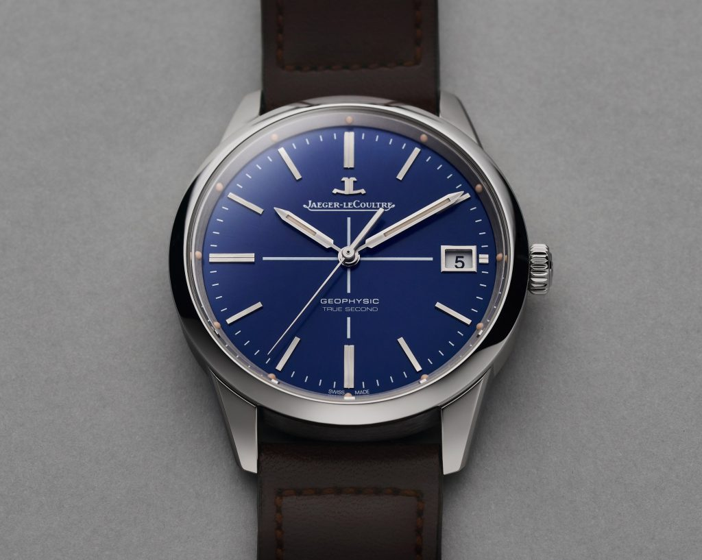 Jaeger-LeCoultre Geophysic True Second Limited Edition Blue watch is crafted in stainless steel.