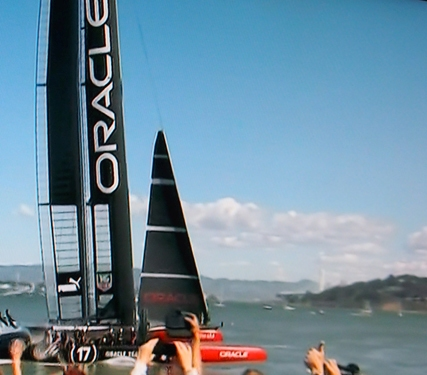 Oracle Team USA sails to the win at the 34th America's Cup in San Francisco