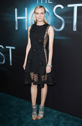 "Diane Kruger wearing Joaillerie 101 Art Deco timepiece at ""The Host"" -LA Premiere"