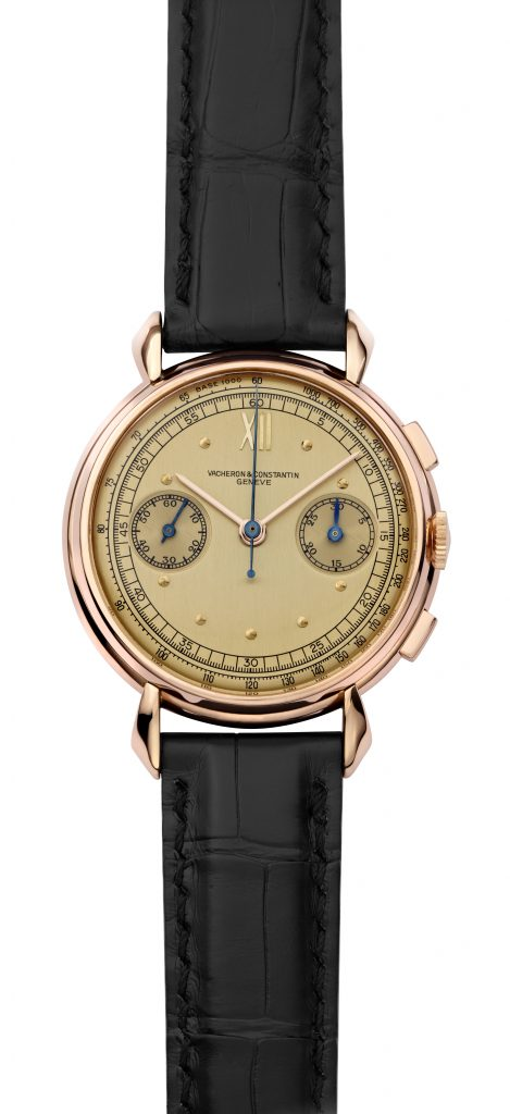 1942 Vacheron Constantin Les Collectionneurs Chronograph with 30-minute counter and manual wind movement.