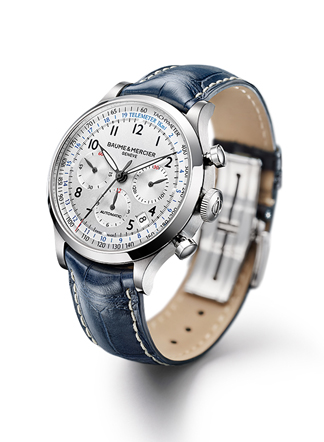 THe Capeland Chronograph offers telemeter and tachymeter functions.
