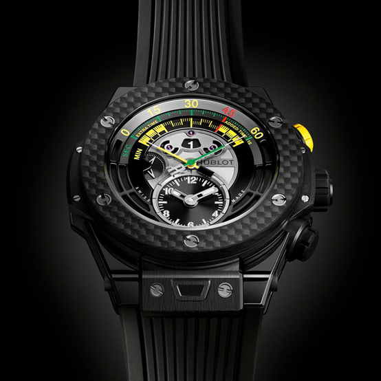 Hublot Official Watch of the FIFA World Cup, in ceramic and carbon fiber.