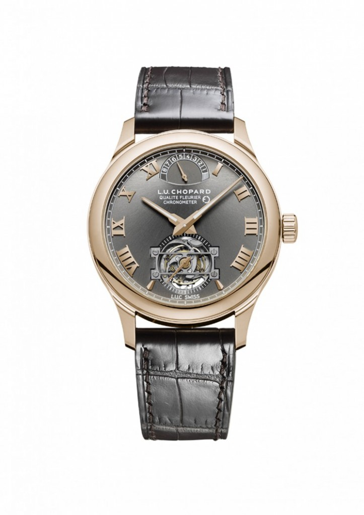 The L.U.C Fairmined Tourbillon houses a hand-wound mechanical movement with tourbillon.