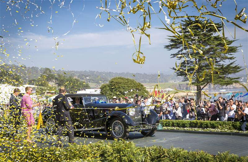 Best of Show went to a 1924 Isotta Fraschini Tipo 8A owned by Jim Patterson Collection Photo; Rolex, Tom O'Neal