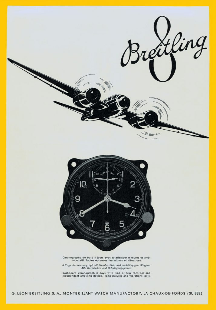 1941 advertisement for the Huit Aviation Department of Breitling