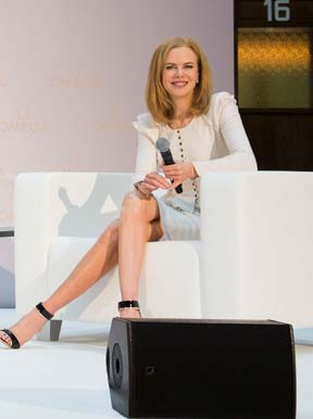 Nicole Kidman at the unveiling of   new Ladymatic two-tone watches in Vienna
