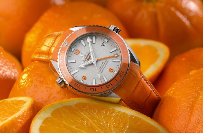 The Omega Seamaster  Planet Ocean Orange Ceramic  watch is a world premiere.