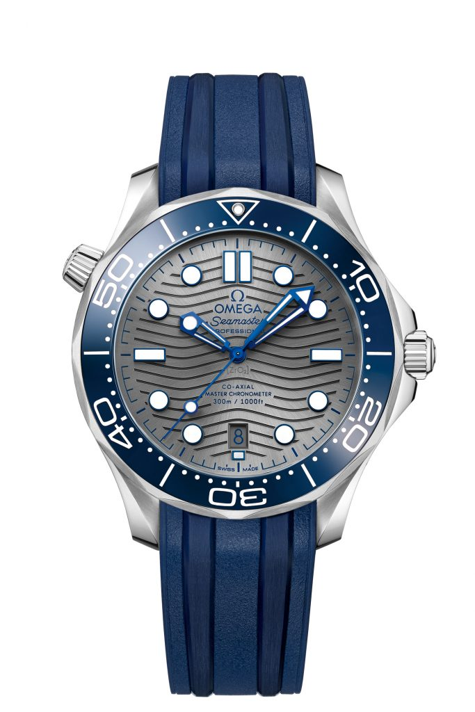 The dial of the new Omega Seamaster Diver 300M watches