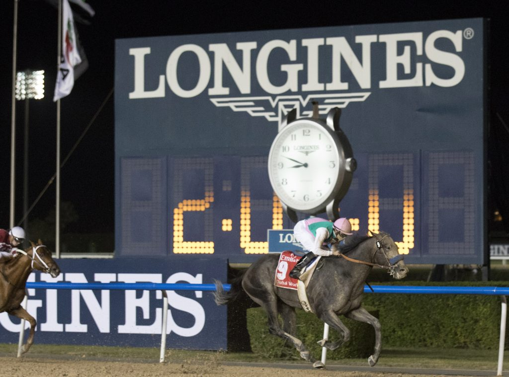 American thoroughbred Arrogate wins the Longines Best Racehorse Award.