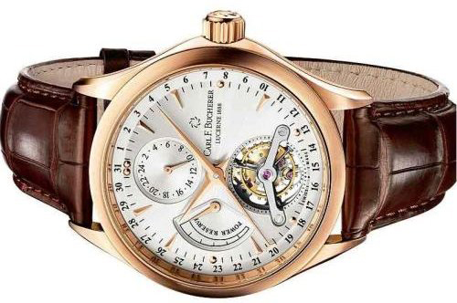 The Carl F. Bucherer Manero Tourbillon Limited Edition is created in  18-karat pink gold in a series of just 188 pieces.