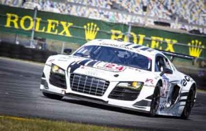GT Class Winner, #24, Audi Sport Customer Racing/AJR, GT, Audi R8 Grand-Am, Filipe Albuquergue, Oliver Jarvis, Edoardo Mortara, Dion von Moltke.