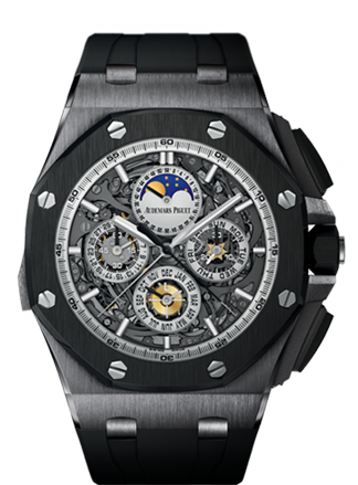 Audemars Piguet Grande Complication Royal Oak Offshore with perpetual calendar, minute repeater, split-seconds chronograph.