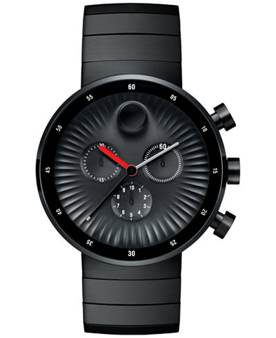 Movado Swiss Chronograph Edge watch is black PVD.