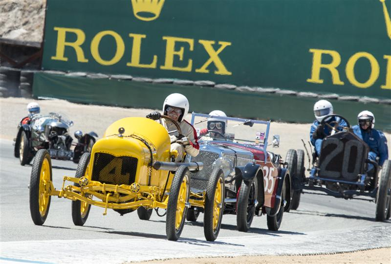 Roadsters making their way around Mazda Laguna Seca track at the Rolex Monterey Motorsports Reunion. Photo: Rolex, Stephan Cooper