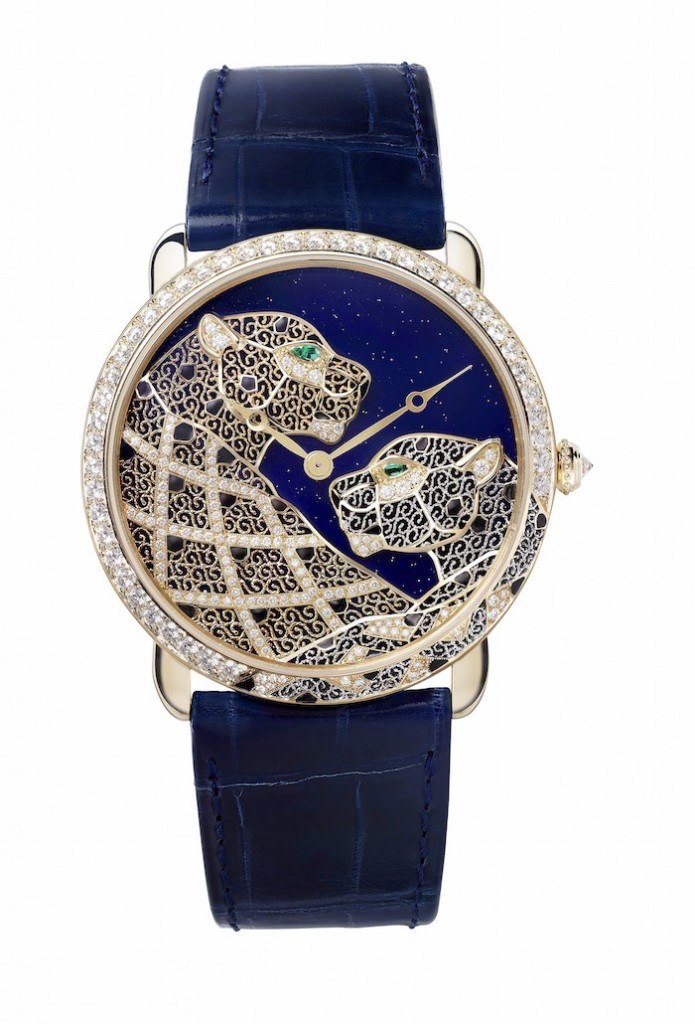 Replica Louis Cartier Rotonde XL Panther Filigree