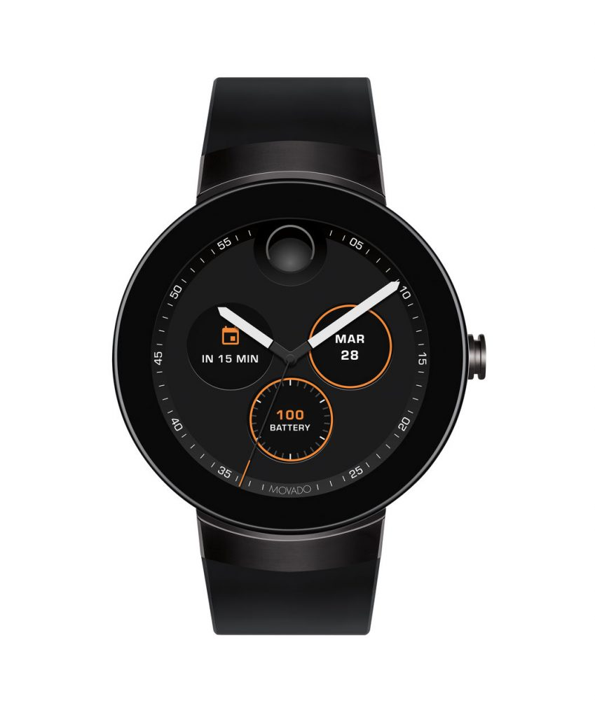 Black PVD Movado Connect Watch