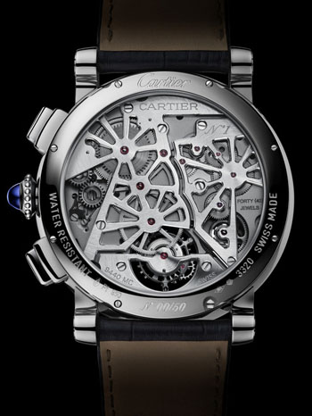 The complex timepiece houses the Calibre 9440 MC – with 362 parts and 40 jewels.