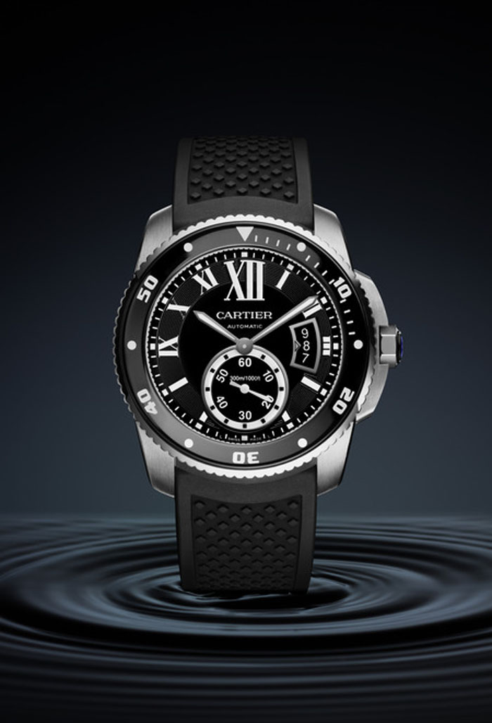 Calibre de Cartier Dive Watch water resistant to 300 meters. Photo credit Nils Hermann@ Cartier