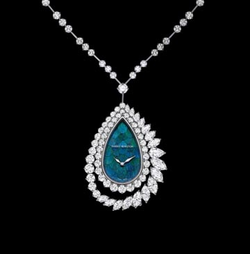 Time capsules product harry winstons ultimate adornments this year harry winston unveiled the newest masterpiece in its ultimate adornments collection a convertible high diamond watch pendant with a detachable aloadofball Images