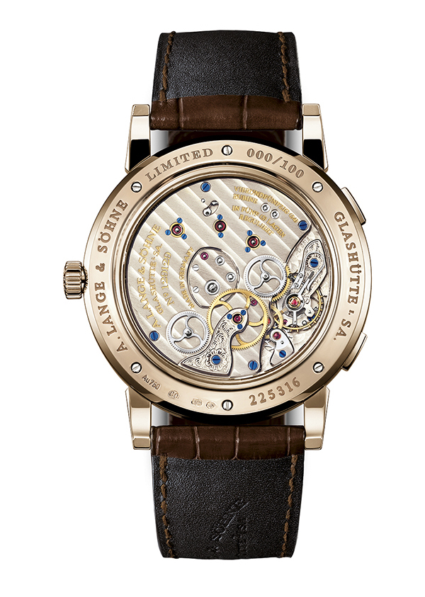 The new special edition A. Lange & Sohne Lange 1 Time Zone watch houses the Manufacture Caliber L031.1 manual movement with 417 parts.