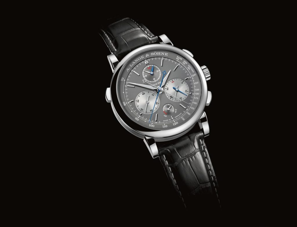 A. Lange & Sohne Triple Split chronograph offers split timing for seconds, minutes and now, also hours.