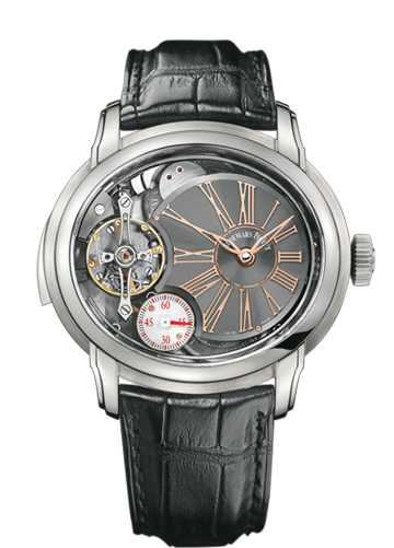 The titanium Audemars Piguet Millenary Minute Repeater is made in a limited edition of 8 pieces.