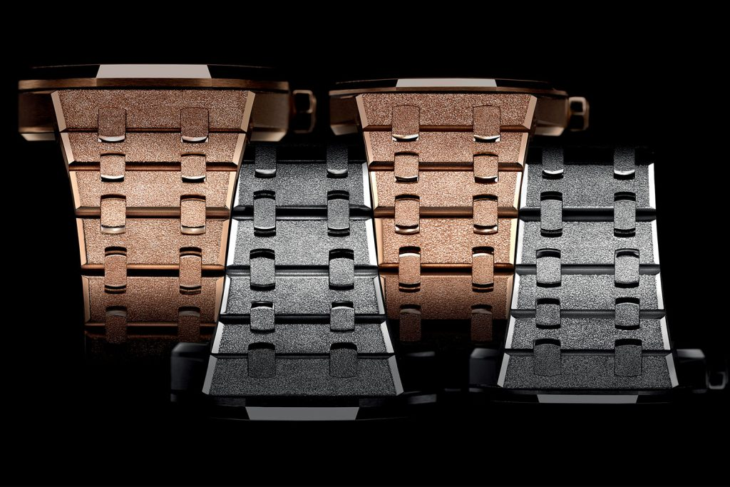 The 40th Anniversary collection of Audemars Piguet Royal Oak Frosted Gold watches celebrate the first ladies' Royal Oak unveiled in 1976.