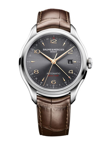 Baume & Mercier's Clifton with dual time zone indication via 24-hour hand