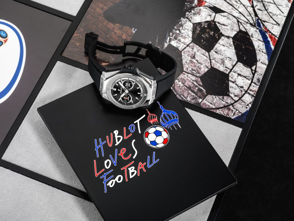 Hublot held a huge kick-off party at Baselworld 2018 to unveil the Hublot Big Bang Referee 2018 FIFA World Cup Russia™ Connected Watch