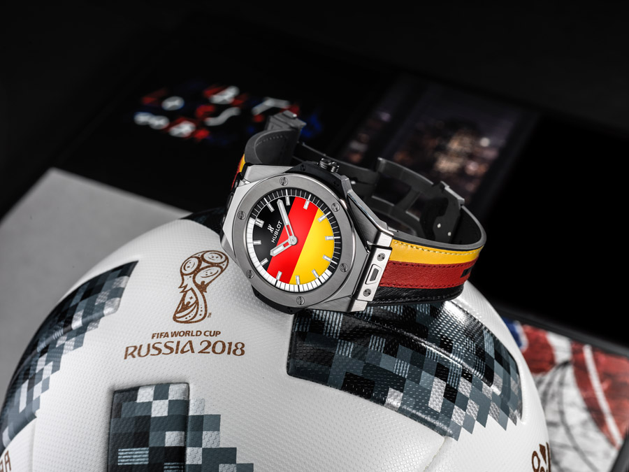 There are 32 soccer-inspired dials for the Hublot Big Bang Referee 2018 FIFA World Cup Russia™ Connected Watch