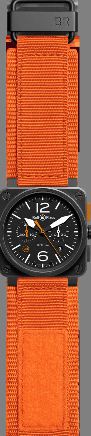 Bell & Ross BR03-94 Carbon Orange