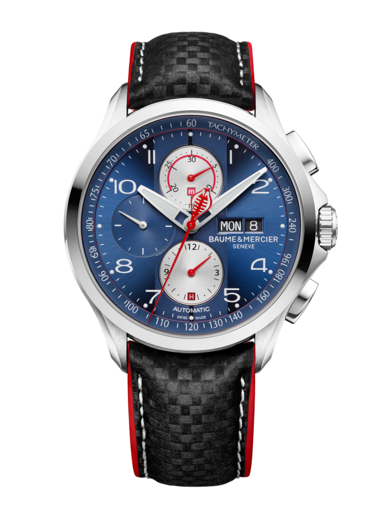 Baume & Mercier Clifton Club Shelby® Cobra Automatic Chronograph Limited Edition watch designed with Peter Brock, is being made in an edition of 1964 pieces.