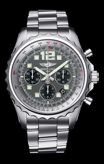 Breitling Chronospace Automatic has a Breitling 23 caliber, a minimum power reserve of 42 hours, and a diameter of 46 mm. It retails for $6,700.