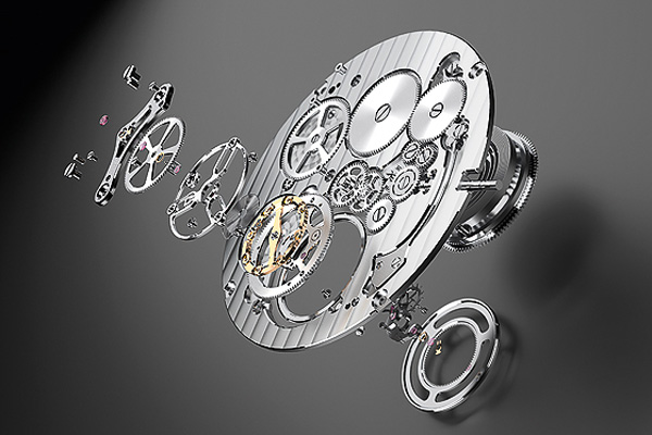 The movement for the Octo Finissimo Tourbillon was configured around the tourbillon cage.