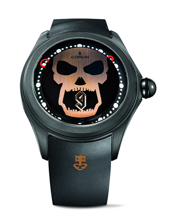 Corum Bubble Big Magical Djibril Cisse (The Lion) watch is made in two versions