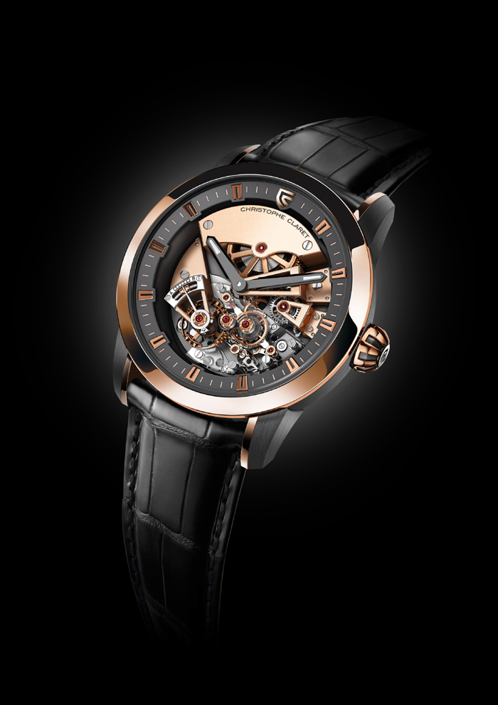 Christophe Claret Rose Gold and Titanium Maestoso, with three new patents.