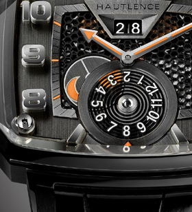 Destination 03 in black DLC titanium with dragging disk for day/night indicator.
