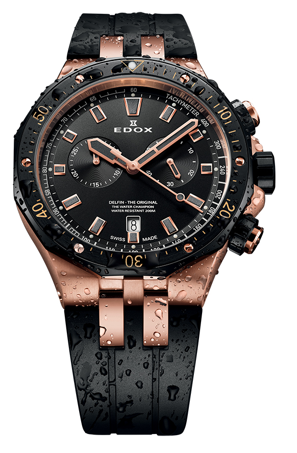 Edox Delfin, the Original Water Champion, in new updated diver version.