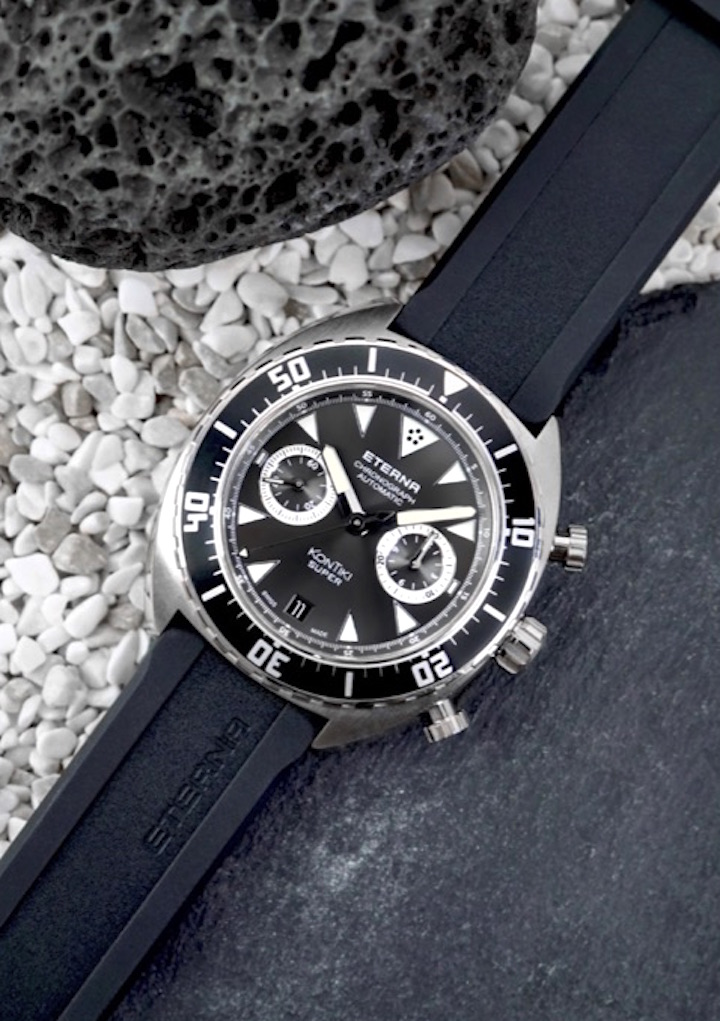 The Eterna Super KonTIki Chronograph is a certified chronometer.
