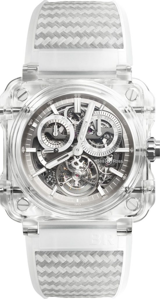 Just five pieces of the Bell & Ross BR-X1 Transparent sapphire chronograph tourbillon will be made