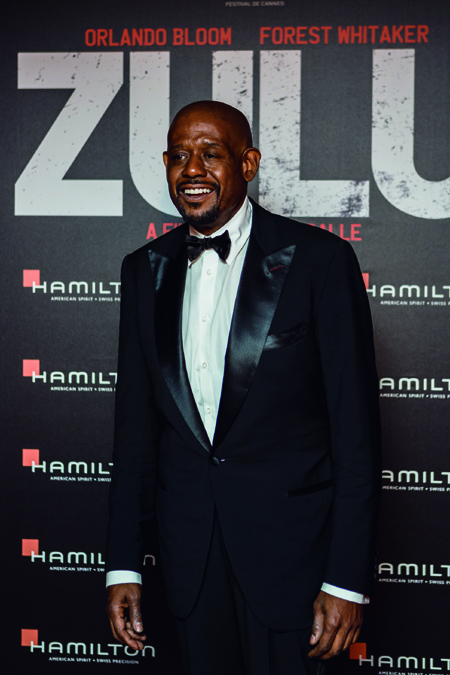 Forest Whitaker wears a Hamilton in the new movie, Zulu, which was shown at the end of the Cannes Film Festival.