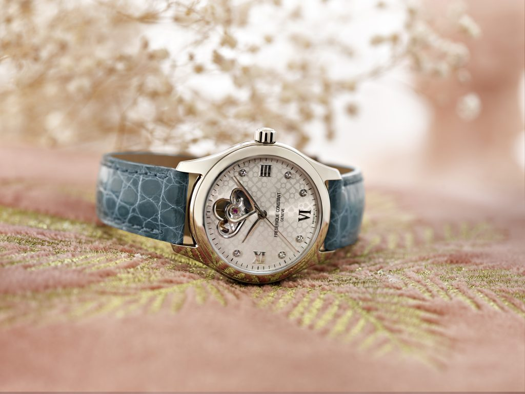 Frederique Constant Ladies Automatic Double Heart Beat watch in stainless steel.