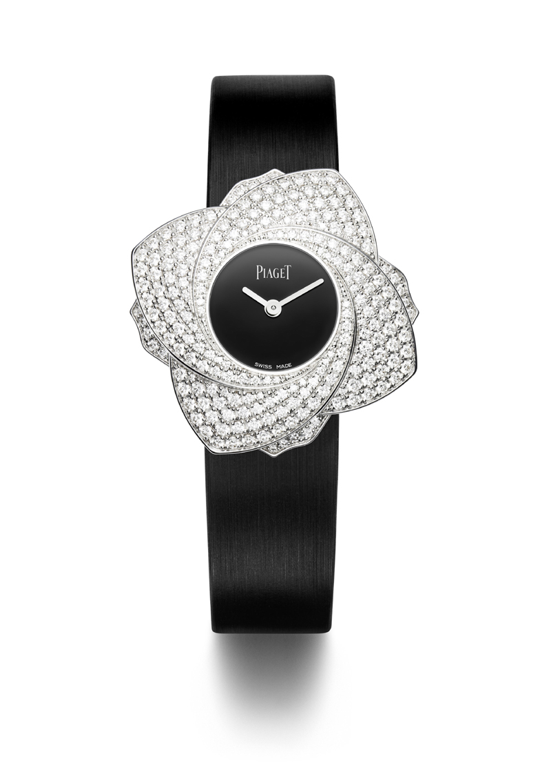 A technically sophisticated watch, the Piaget Limelight Blooming rose starts with four petals and unfurls to eight.
