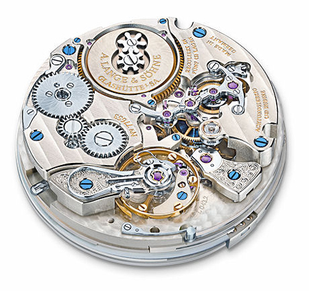 In a handwound movement, such as this A. Lange & Sohne caliber the wearer needs to wind the crown to power the watch.