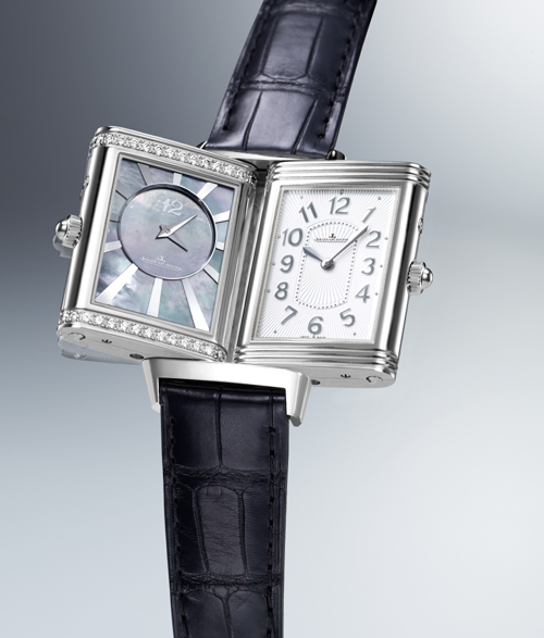 the with watches hands tribute thin to monochrome lecoultre ultra gold on reverso jaeger grande
