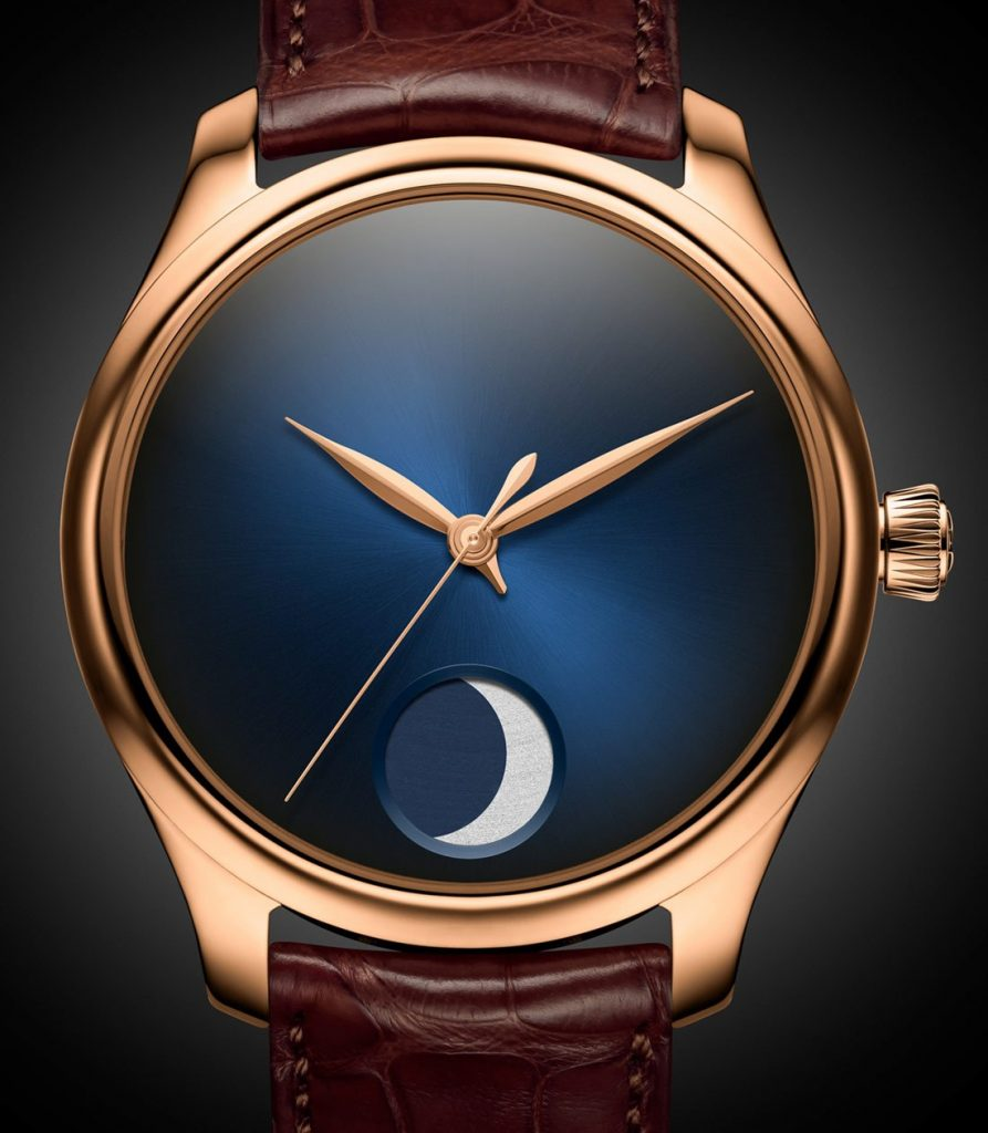 H. Mosier & Cie Endeavour Perpetual Calendar Concept watch with Fume Blue dial.
