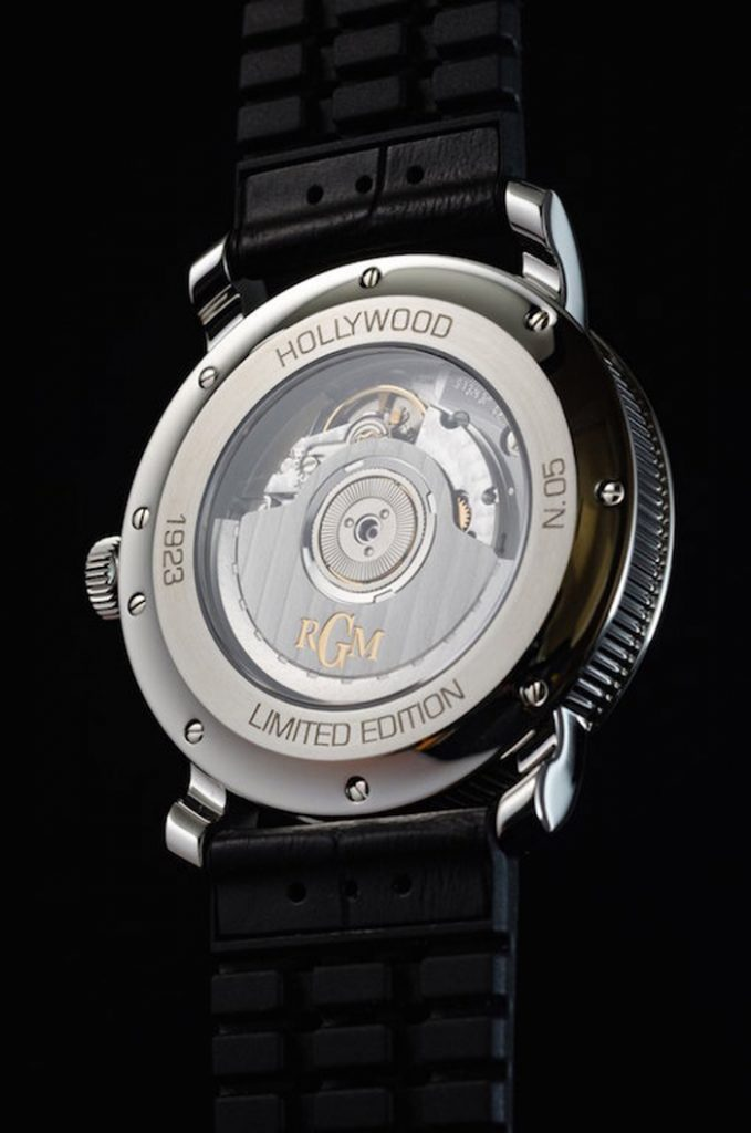 Each Hollywood watch by RGM is numbered.