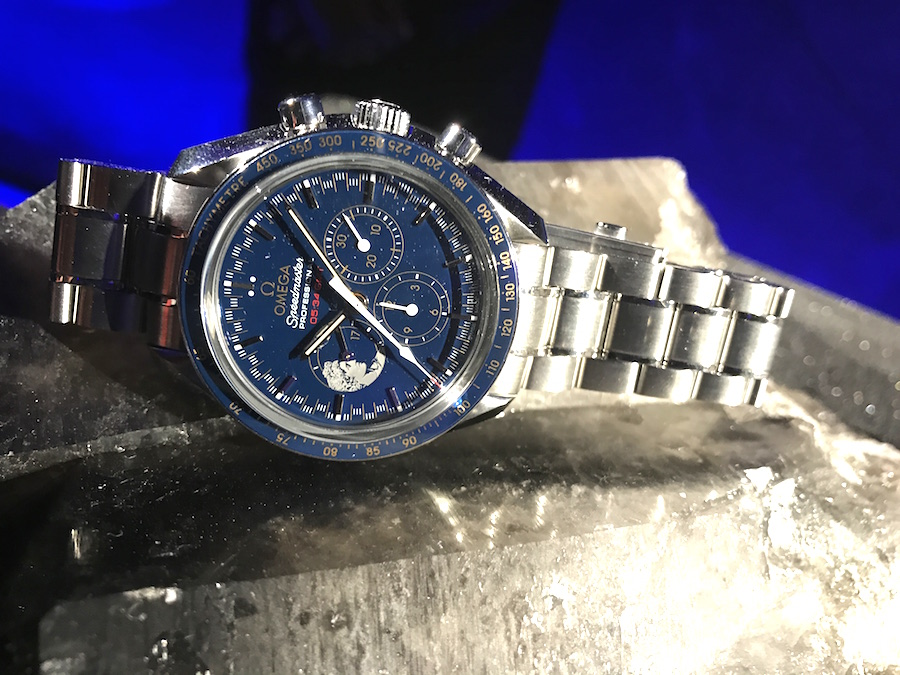 Omega Speedmaster watches unveiled during the past 60 years were on display, along with new pieces.