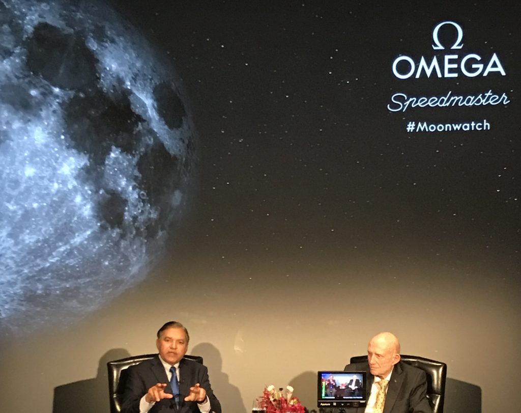 Astronaut General Thomas Stafford talks of his NASA adventures at the Omega anniversary event.