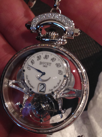 Mr. Raffy had this stunning convertible Bovet timepiece on his wrist during the opening.